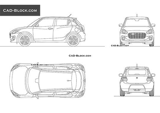 Suzuki Swift - free CAD file