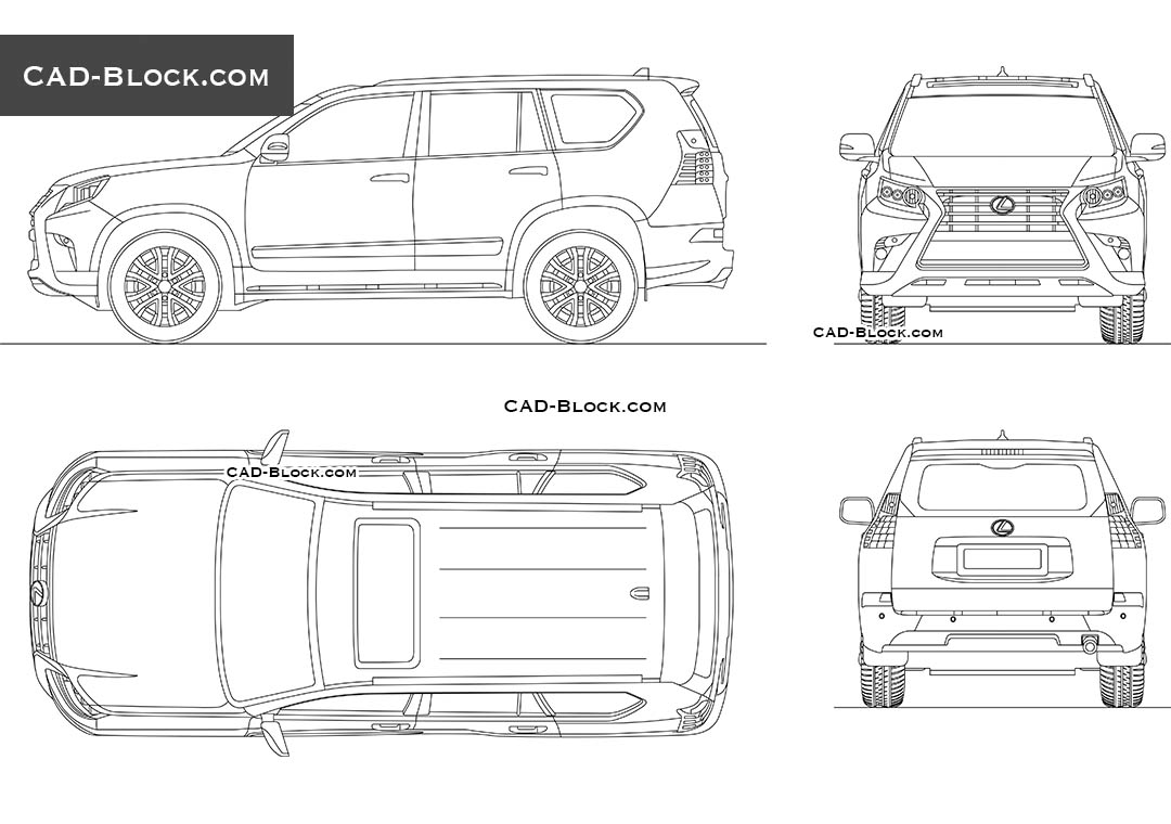 Lexus GX 460 - CAD Blocks, AutoCAD file