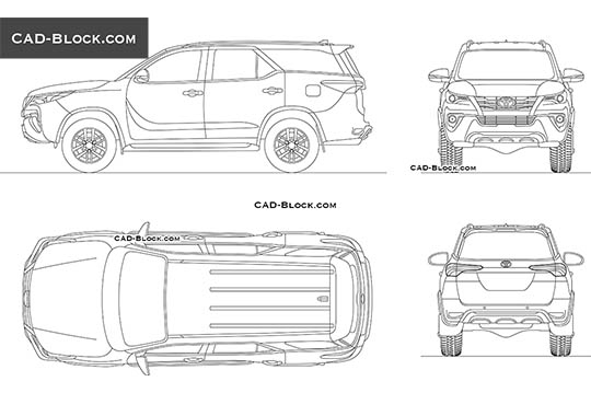 Toyota Fortuner buy AutoCAD Blocks