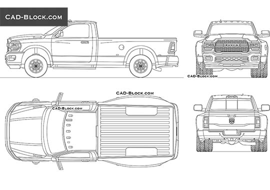 Dodge RAM 3500 Single Cab buy AutoCAD Blocks
