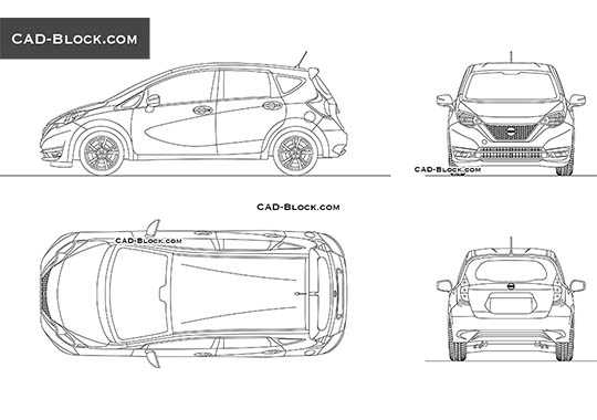 Nissan Versa Note buy AutoCAD Blocks
