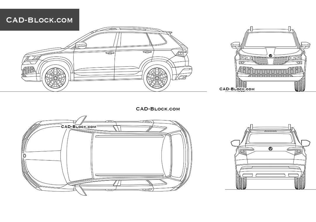 Skoda Karoq - CAD Blocks, AutoCAD file