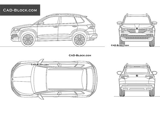 Skoda Karoq - download free CAD Block
