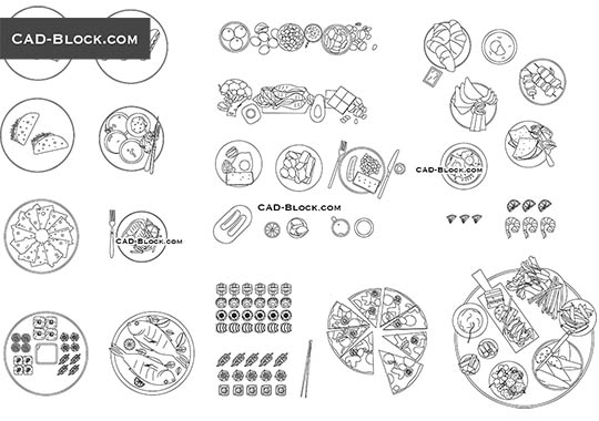 Food Set - free CAD file