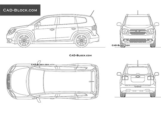 Chevrolet Orlando (2011) - download free CAD Block
