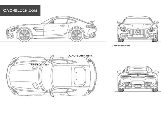 Mercedes-Benz AMG GT R buy AutoCAD Blocks