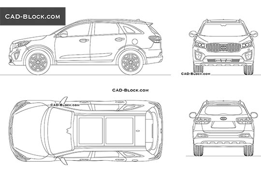 Kia Sorento buy AutoCAD Blocks