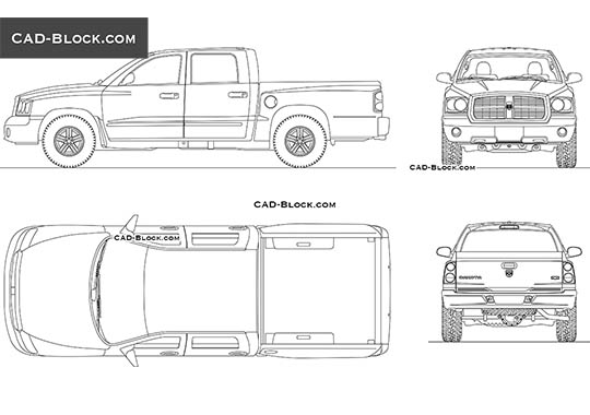 Dodge Dakota buy AutoCAD Blocks