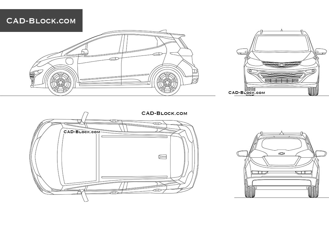 Chevrolet Bolt EV - CAD Blocks, AutoCAD file