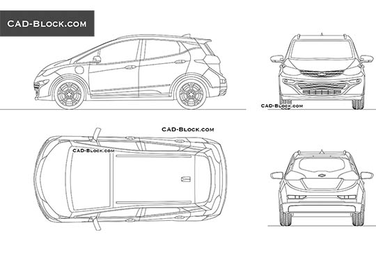 Chevrolet Bolt EV buy AutoCAD Blocks