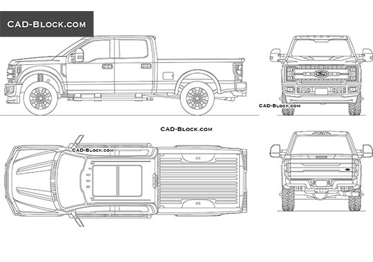 Ford F-350 Super Duty - free CAD file