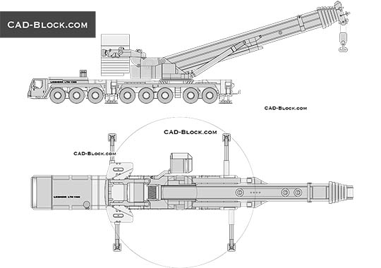 Liebherr LTM 1500 - download free CAD Block