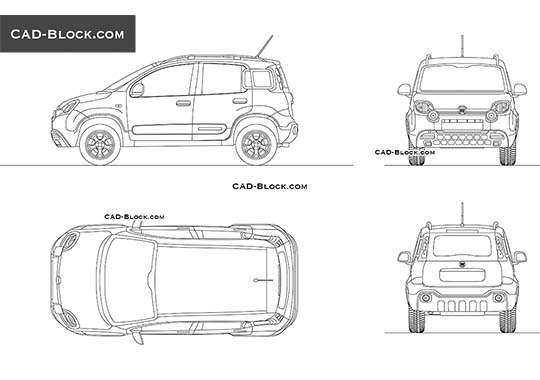 Fiat Panda Cross buy AutoCAD Blocks