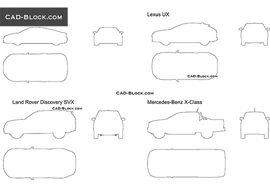 Car Outline - free CAD file