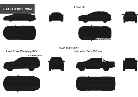 Car Silhouette - download free CAD Block