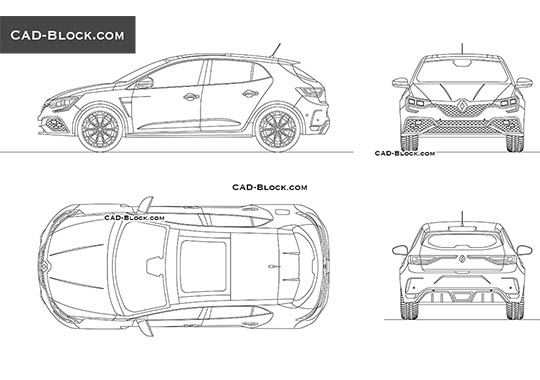 Renault Megane RS buy AutoCAD Blocks