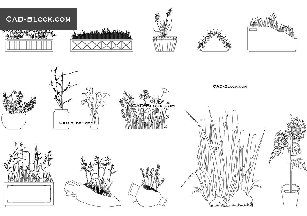 Garden Designs CAD blocks