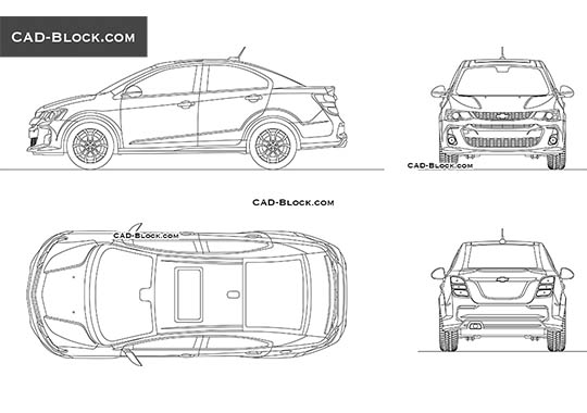 Chevrolet Sonic buy AutoCAD Blocks