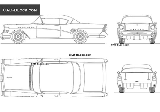 Buick Roadmaster (1957) buy AutoCAD Blocks