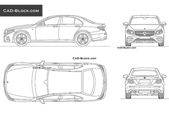 Mercedes-Benz AMG E43 buy AutoCAD Blocks