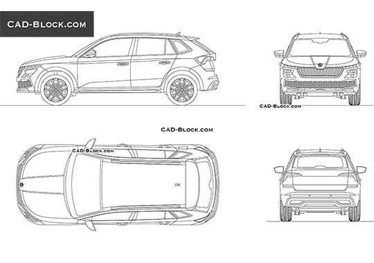Skoda Kamiq buy AutoCAD Blocks