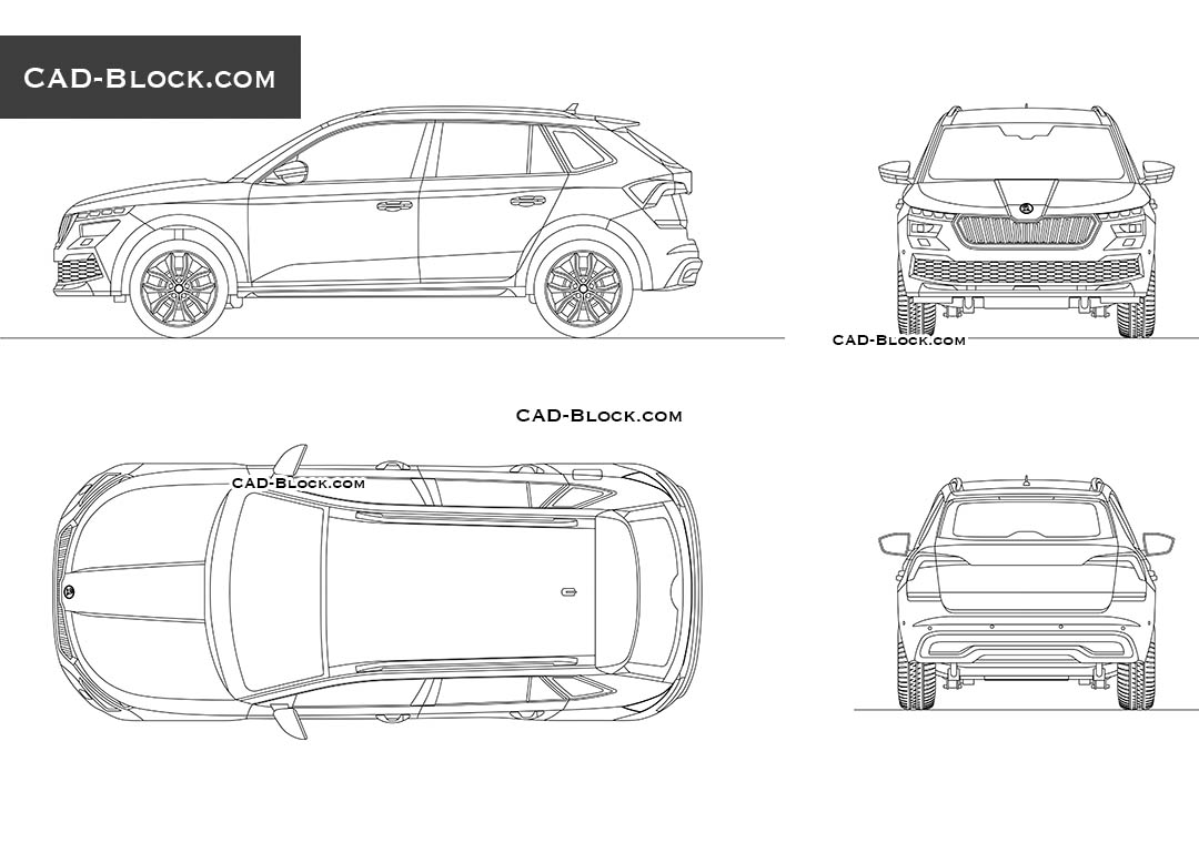 Skoda Kamiq - CAD Blocks, AutoCAD file