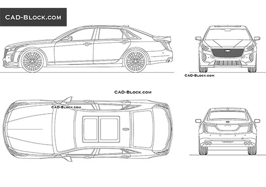 Cadillac CT6 V-Sport buy AutoCAD Blocks