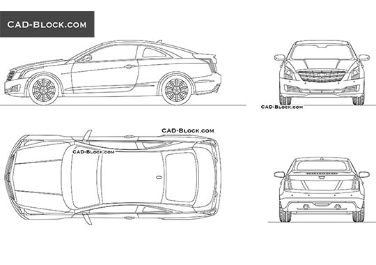 Cadillac ATS Coupe (2015) buy AutoCAD Blocks
