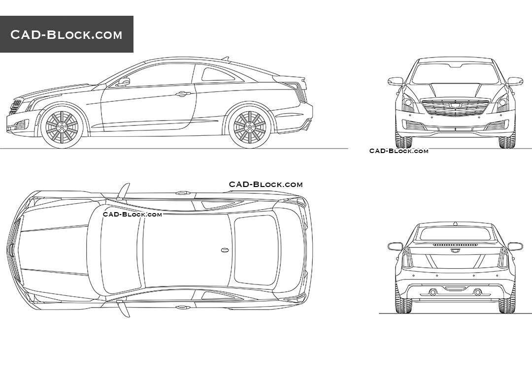 Cadillac ATS Coupe (2015) - CAD Blocks, AutoCAD file
