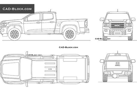 GMC Canyon Double Cab buy AutoCAD Blocks