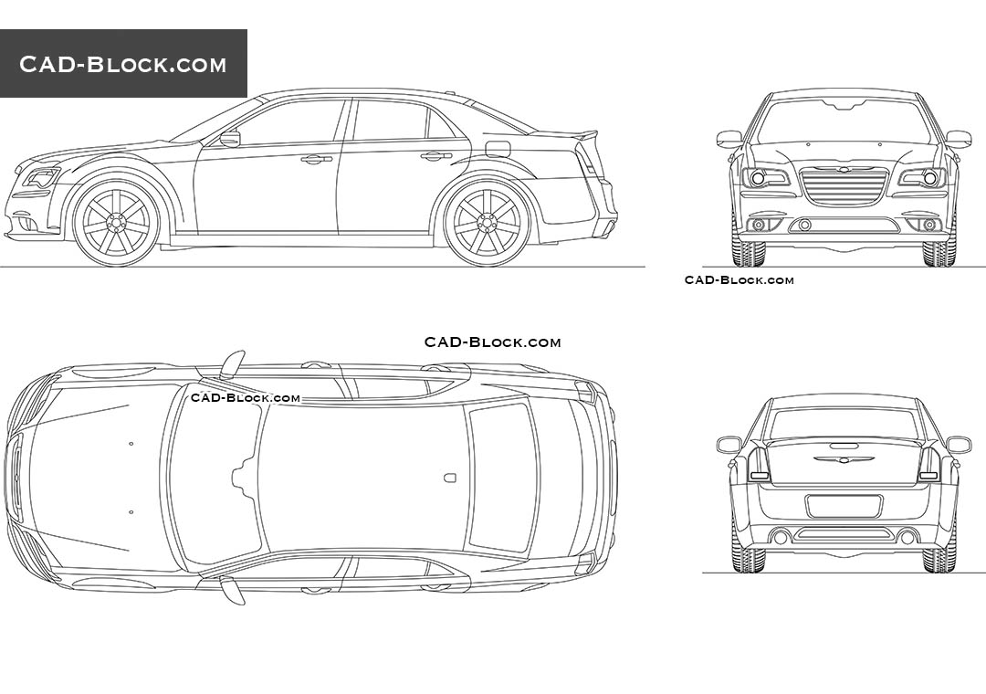 Chrysler 300 - CAD Blocks, AutoCAD file