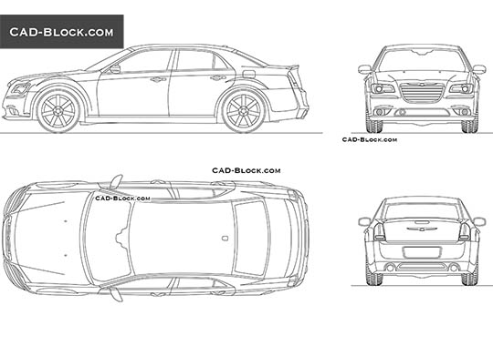 Chrysler 300 buy AutoCAD Blocks