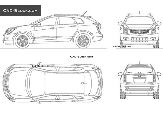 Cadillac SRX - download free CAD Block