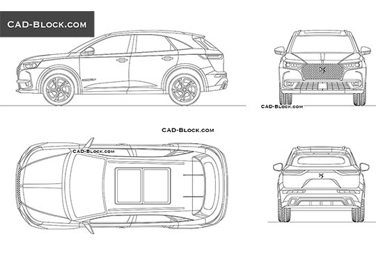 DS 7 Crossback - download free CAD Block
