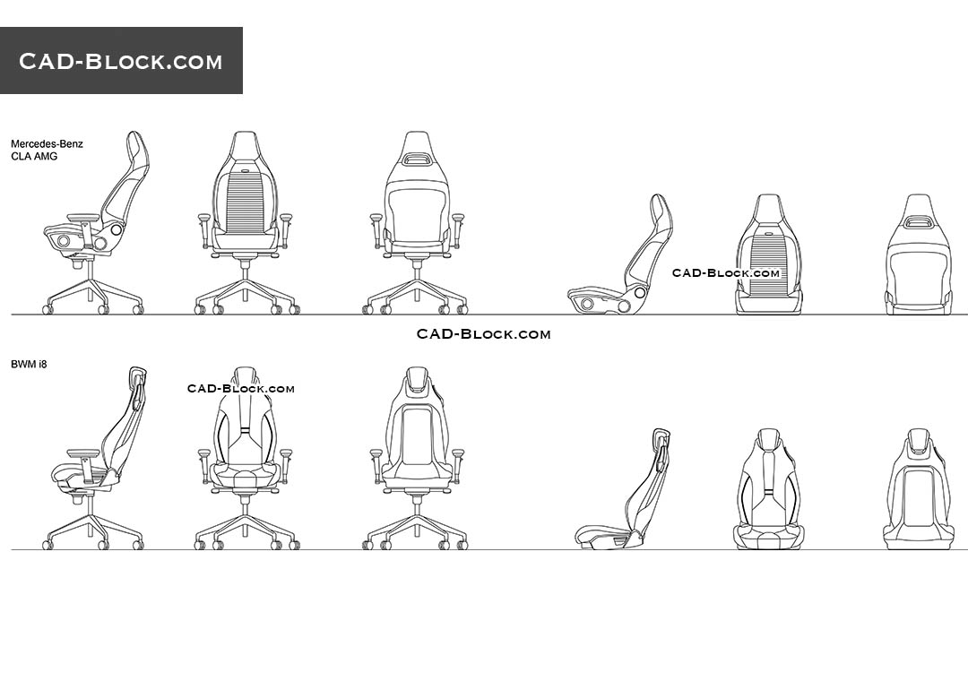 Car Armchairs - CAD Blocks, AutoCAD file