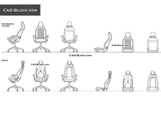 Car Armchairs - free CAD file