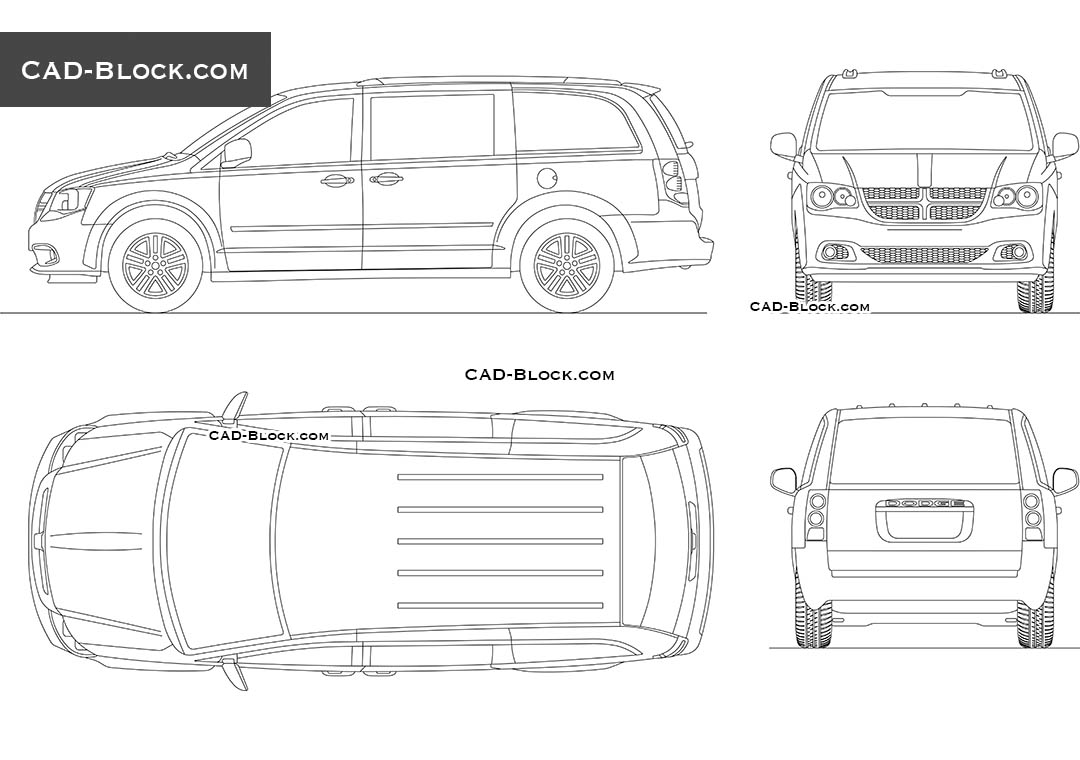 Dodge Grand Caravan - CAD Blocks, AutoCAD file