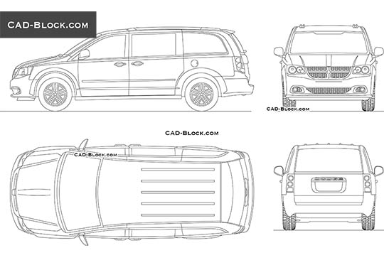 Dodge Grand Caravan - download free CAD Block