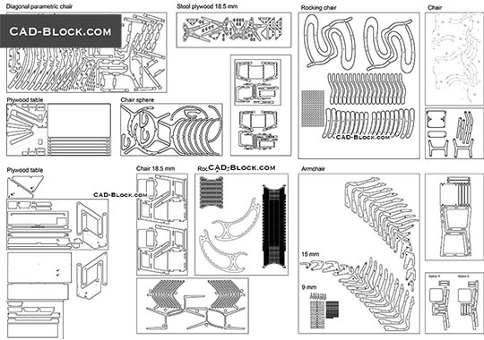 Parametric Furniture - download free CAD Block