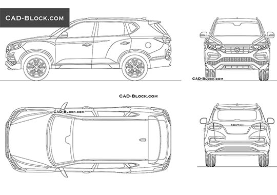 SsangYong Rexton - download free CAD Block