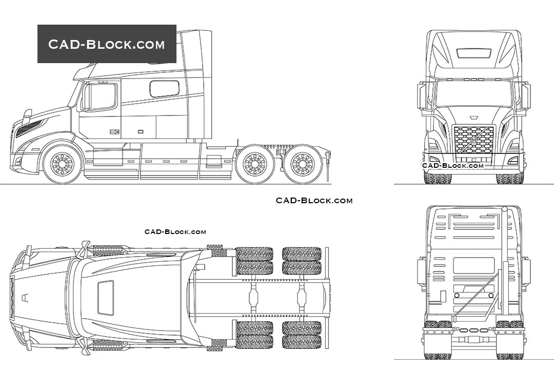 Volvo VNL 760 - CAD Blocks, AutoCAD file