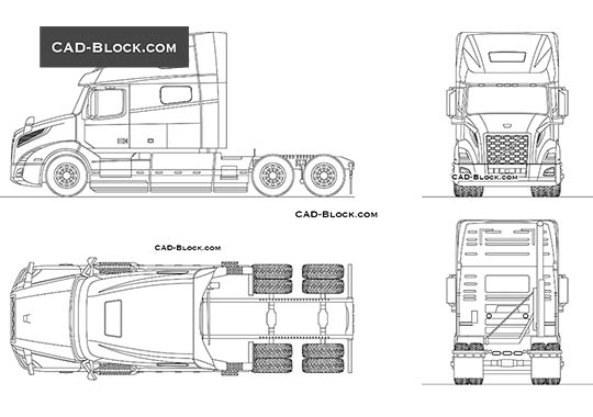 Volvo VNL 760 buy AutoCAD Blocks