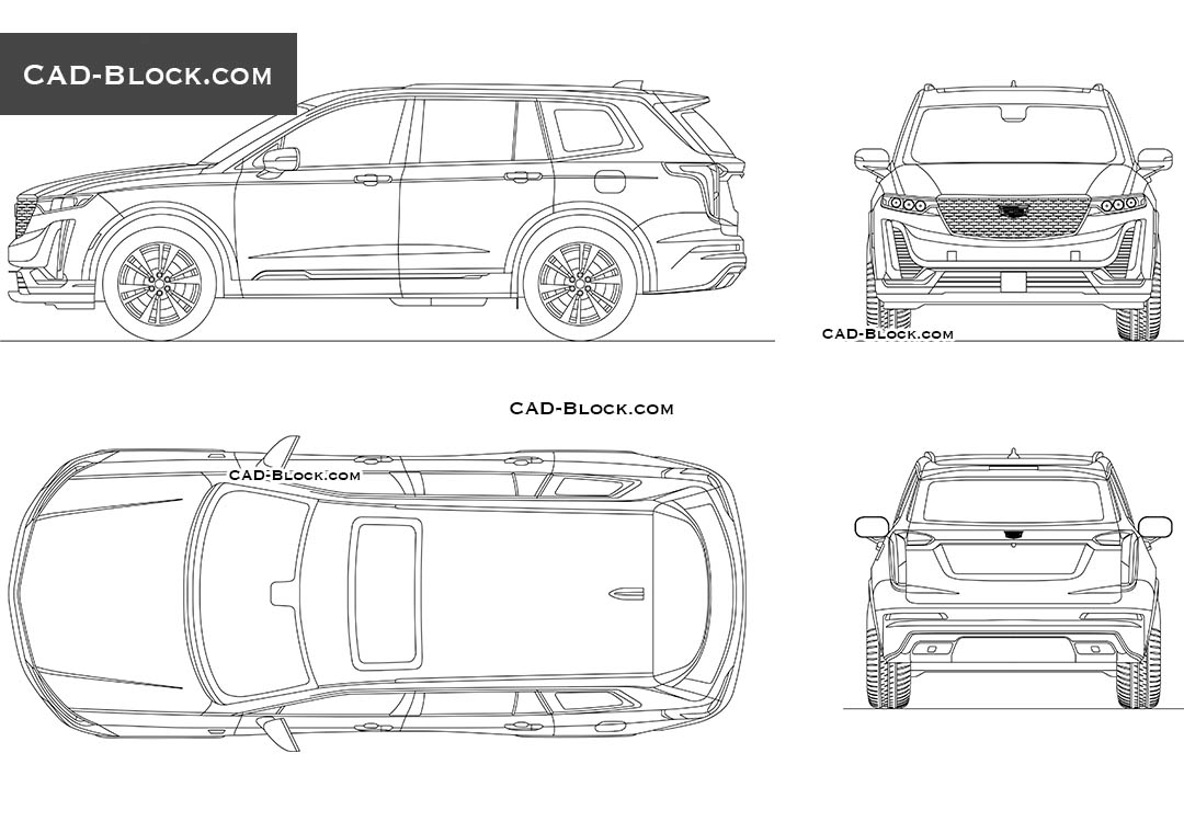 Cadillac XT6 - CAD Blocks, AutoCAD file