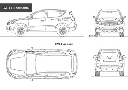 Geely Vision X6 - download free CAD Block