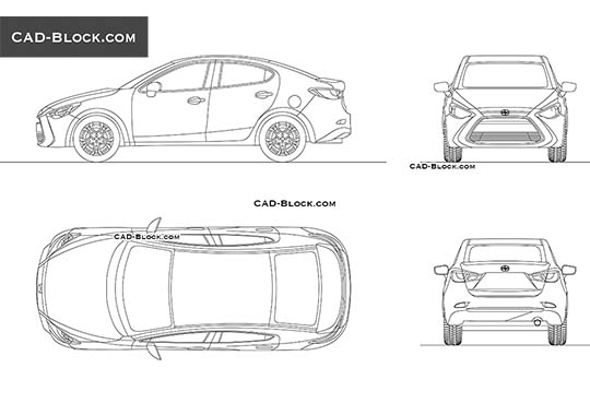 Scion iA - download free CAD Block