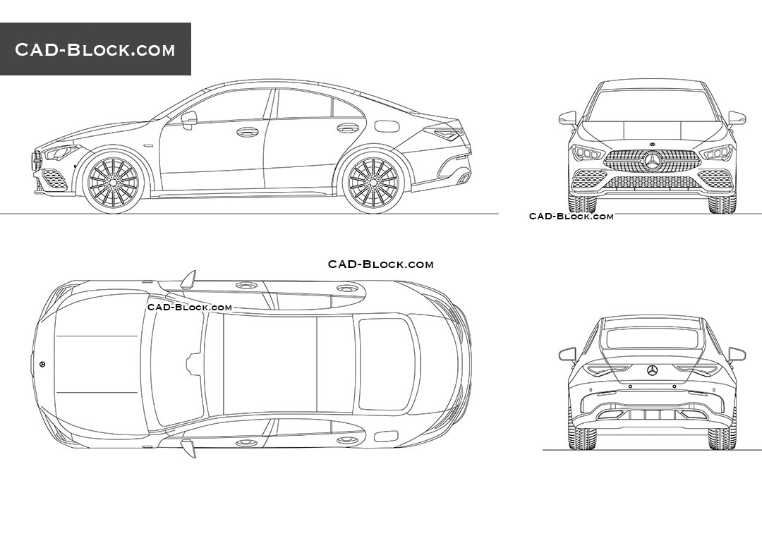 Mercedes-Benz CLA - CAD Blocks, AutoCAD file