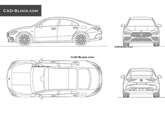 Mercedes-Benz CLA - download free CAD Block