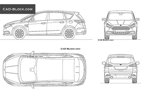 Ford S-Max - download free CAD Block