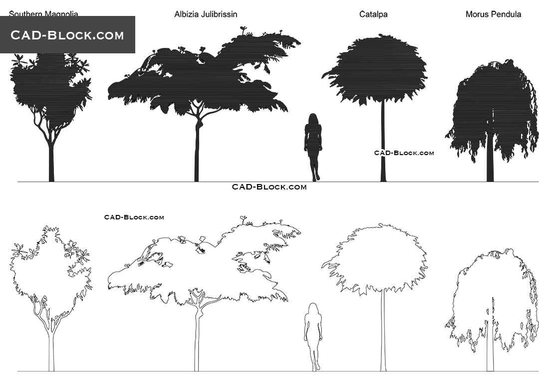Flowering Trees - CAD Blocks, AutoCAD file