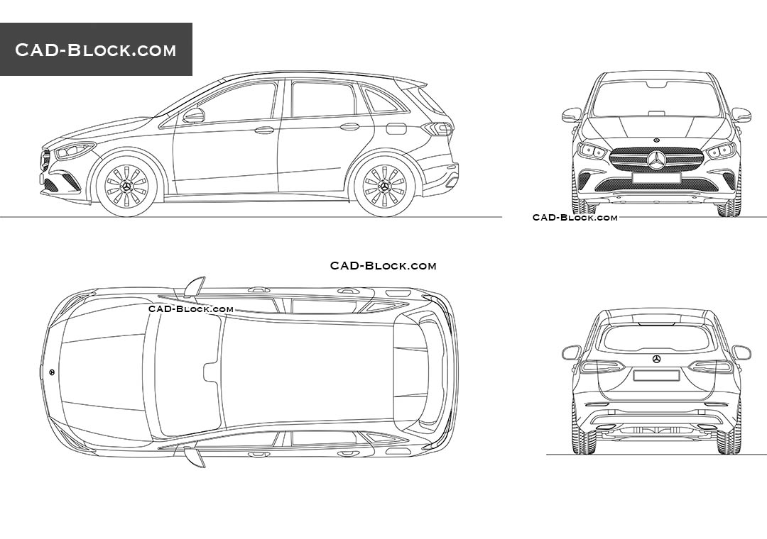Mercedes-Benz B-Class - CAD Blocks, AutoCAD file